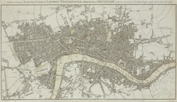 A new & accurate plan of the cities of London, Westminster, & borough of Southwark with the out parts & new buildings, completed to the year 1791